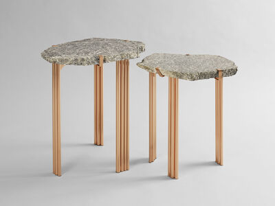 Taher Chemirik, ''Pathway' Pinolite Set of Two Side Tables', 2016