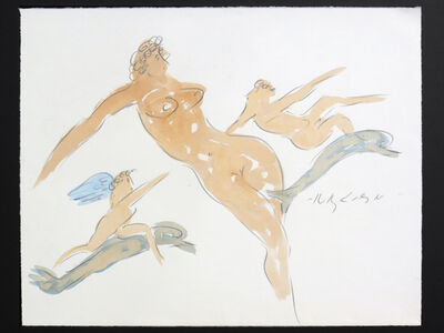 Reuben Nakian, 'Nymph with Cupids and Dolphins', 1982-1985