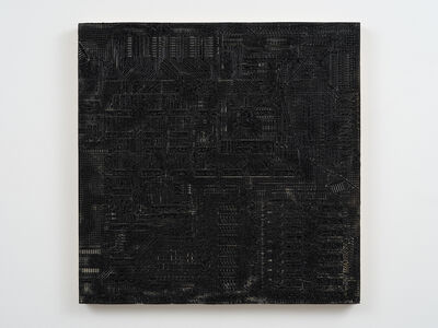 Analía Saban, 'Pleated Ink Circuit Board #13', 2019