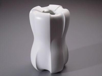 Shomura Hisaki, 'Silky White Vase - Jewel Line', 2013