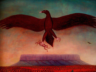Bob Marchant, 'Wedgetail eagle over Mt Connor ', 1992