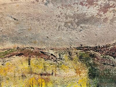 Ivan Kurach, 'Untitled, Lonely Abstract Landscape Italian Expressionist Oil Painting', Mid-20th Century