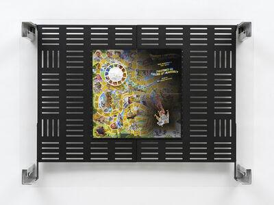 Simon Denny, 'Crypto Futures Game of Life Overprint Collage: Junior', 2018