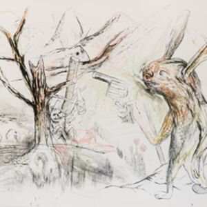 Per Dybvig, 'Hare with Gun with Tree', 2011-2012