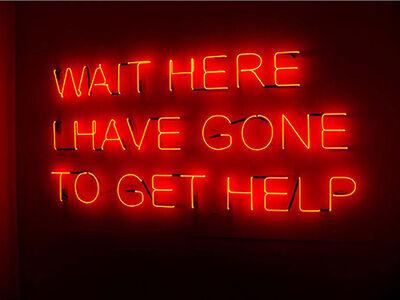 Tim Etchells, 'Wait Here', 2008