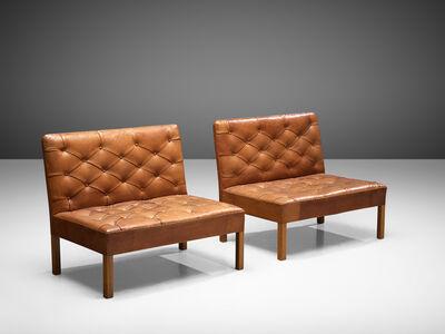 Kaare Klint, 'Set of 'Addition' Sofa's Model '4698' in Original Cognac Leather', 1970s