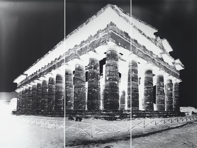 Vera Lutter, 'Temple of Nettuno, Paestum, XVI: October 16, 2015', 2015