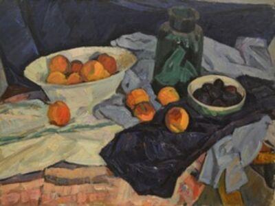 Valery Borisovich Skuridin, 'Still life with peaches', 1974