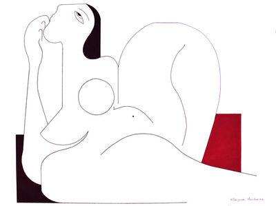 Hildegarde Handsaeme, 'Féminine with red accent', 2019
