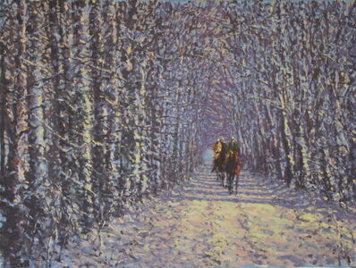 Peter Howell, 'Through the Woods, Chantilly, Winter', Late 20th Century