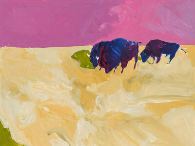 Fritz Scholder, 'Study for Three Buffalo', 20th c.