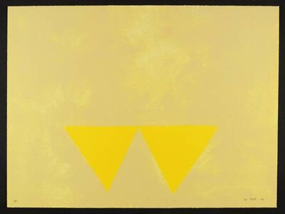 William Scott (1913-1989), 'First Triangles (From 'A Poem for Alexander)', 1972