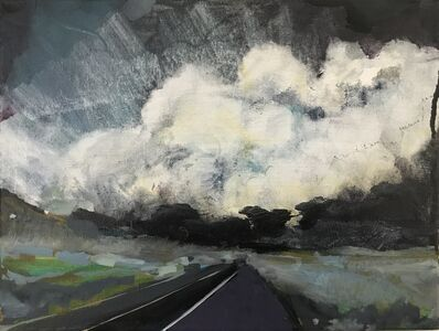 Cathy Ellis, 'Fire by the Highway, Colorado', 2021