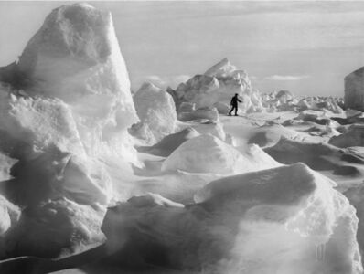 Frank Hurley, 'Skiing on the ice', 1912-1914