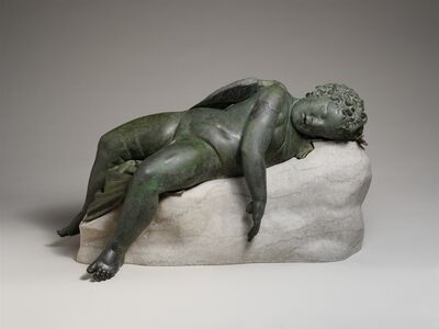 Unknown Greek, 'Bronze statue of Eros sleeping', 3rd–2nd century B.C.