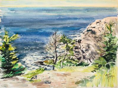Edward Christiana, 'Gull Rock From Burnt Head (Monhegan)', 1977