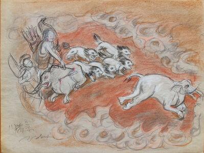 Pei Zhuangxin, 'Sketch ⼿稿《獵象傳說》', 2007