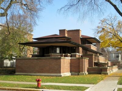 Frank Lloyd Wright, 'Frederick C. Robie House', 1906-09