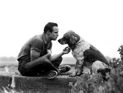Art Shay, 'Brando and the Family Dog', 1950