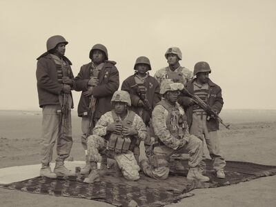 Simon Norfolk, 'Afghan Police Being Trained By U.S. Marines, Camp Leatherneck', 2010