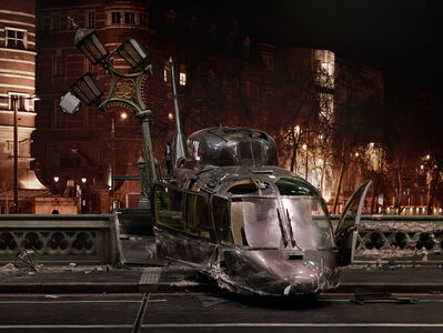 Anderson & Low, 'Westminster Bridge, Helicopter Close Up, from »On the Set of James Bond's Spectre«', 2015