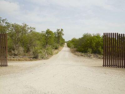 Richard Misrach, 'Wall and road, Santa Maria, Texas', 2014
