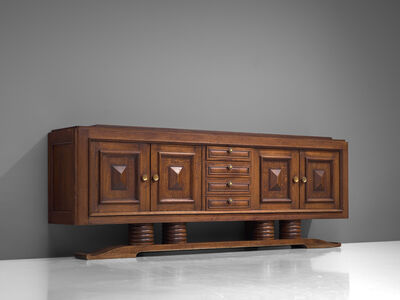 Charles Dudouyt, 'Charles Dudouyt Art Deco Sideboard in Oak in Exceptional Seize', 1930s