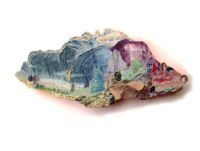 Pam Longobardi, 'Island of Refuge (blue mountain-purple rock)', 2019