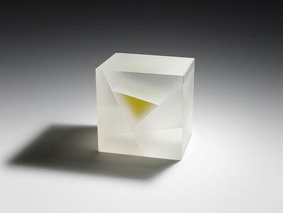 Jiyong Lee, 'White Green Cuboid Segmentation', 2017
