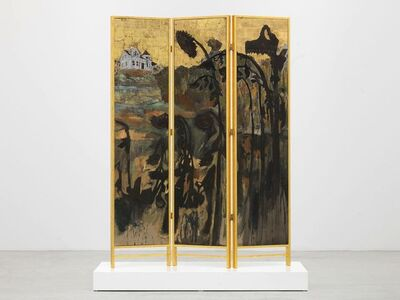 Hernan Bas, 'Decorative screen for the solarium of a homosexuals home (Fading sunflowers)', 2012