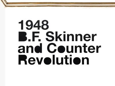Liam Gillick, '1948 B.F. Skinner and Counter Revolution', 2012