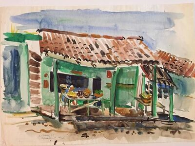 Katherine Librowicz, 'Mexican House with Porch', 20th Century