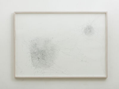 Tomás Saraceno, 'Solitary semi-social mapping of Cetus II by a solo Nephila senegalensis - one week and a duet of Cyrtophora citriola - four weeks', 2016
