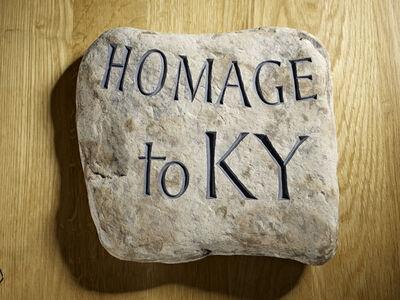 Ian Hamilton Finlay, 'Homage to KY (A Little Wild Stone)', 1977