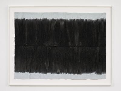 Edith Dekyndt, 'Burned Piece (light blue velvet from Belgium)', 2020
