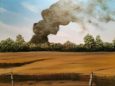 Eric Wright, 'Oil Fire Morrow County (Bucolic)', 2020