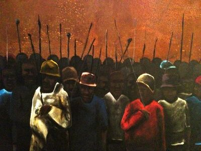 Sam Nhlengethwa, 'Marikana March I', 2013