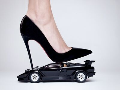 Tyler Shields, 'Lamborghini High Heel', 2016