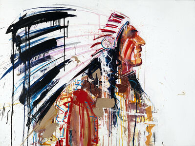 Dave White, 'Warrior III Colour Silkscreen'