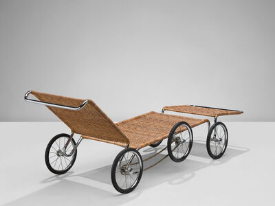 Marcel Breuer, 'Marcel Breuer F41 Lounge on Wheels for Tecta', 1980-1989