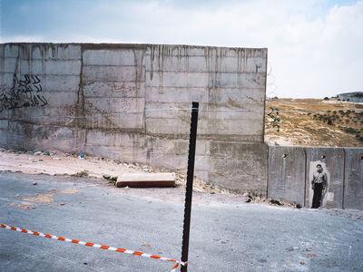 Ernest Pignon-Ernest, 'Mahmoud Darwich, Le Mur à Jérusalem Est', 2009