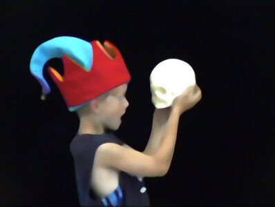 Cleverson Oliveira, 'Golden Years (Jester with Skull #2)', 2004