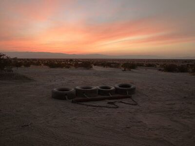 Richard Misrach, 'Four-tire drag, near Calexico, California', 2014