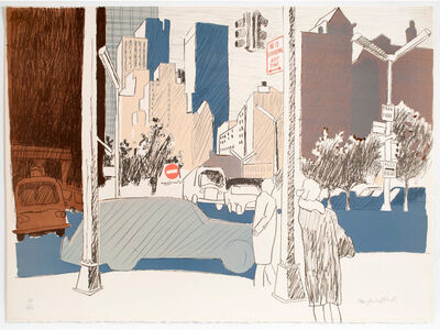 Fairfield Porter, 'Street Scene', 1969