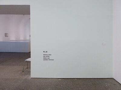 Ignasi Aballí, 'Diez blancos (blanco cielo)', 2015
