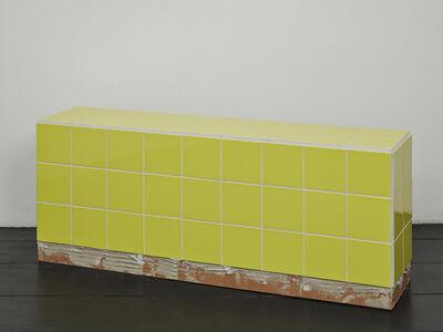 Calla Henkel and Max Pitegoff, 'Reading bench (yellow)', 2016