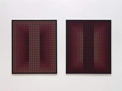 Julian Stanczak, 'Opposing Pair I & II', 1983