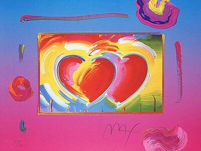 Peter Max, 'Two Hearts on Blends', 2005
