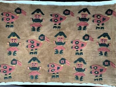 Nazca Culture, 'Pre-Columbian Peru Embroidered Cloth Fragment', Pre-Columbian