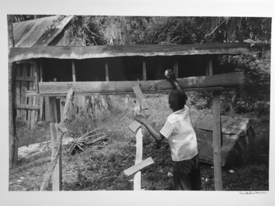 Constantine Manos, 'Untitled, Island Boy, Daufuskie Island, South Carolina (chicken coop)', 1952